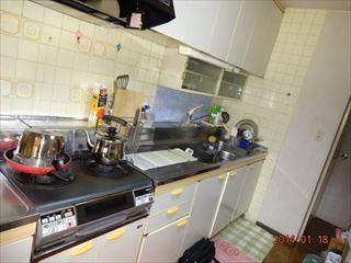 NO100.白で明るく洗練されたキッチンに施工前2