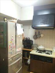 NO92.タイル張りのキッチン施工前2