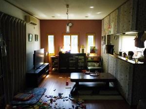 NO15.セミオープンキッチンと造作家具施工前1