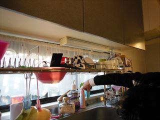 NO96.シンプル模様の上品なキッチン施工前3