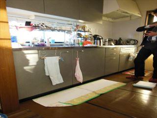 NO96.シンプル模様の上品なキッチン施工前1